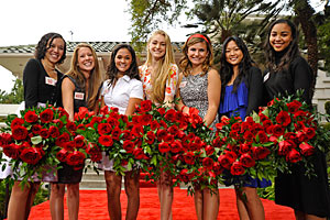 Rose Queen and Her Court to Visit Campus for Annual Luncheon