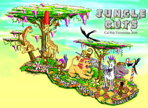 Jungle Cuts is the Cal Poly Universities entry into the 2010 Rose Parade.