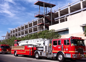 Parking Structure Open After Car Fire