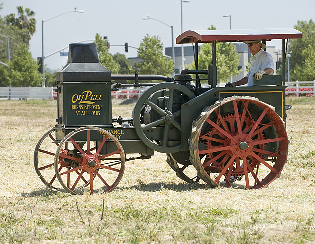 An antique tractor at the 2010 Tractor and Car Show at the Farm Store at Kellogg Ranch at Cal Poly Pomona.