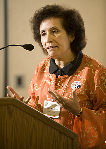 Fatima Sadiqi speaks at Cal Poly Pomona.