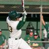 Bronco Athletic Student up at bat during baseball game