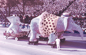 The Cal Poly Universities' Rose Float in 1977.