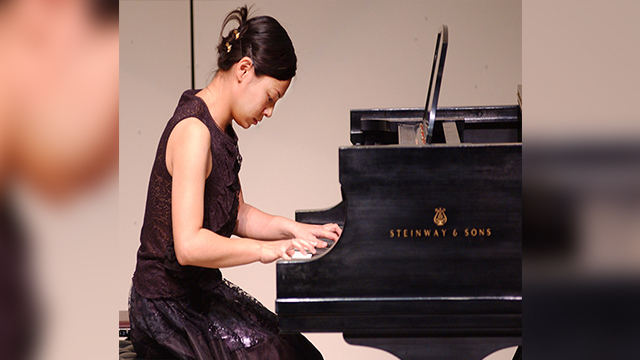 "Wei-Lun Chang plays Rachmaninoff's Prelude in G minor, Op. 23, No. 5, during The Music Hour ""Spring Showcase"" in the Cal Poly Pomona Recital Hall."
