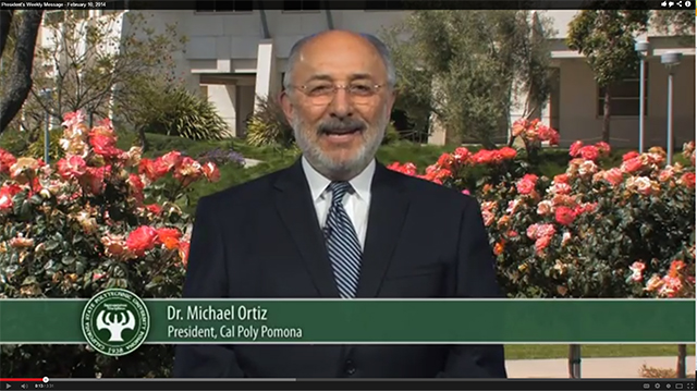 President Ortiz delivers his video update for Feb. 10, 2014.