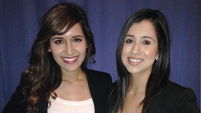 Medina Tajzoy, left, and Danielle Sigala, right.