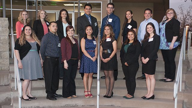 Fellowship winners at the Partners In Education Sponsor a Future Teacher Awards Ceremony.