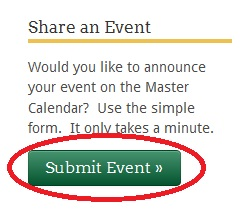 Screen shot of the Submit Event button