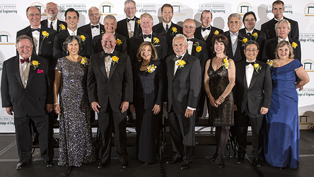 The inaugural College of Engineering Hall of Fame class.