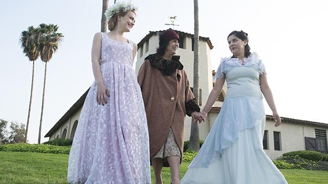 Cast members Rachel Hale, Linda Bisesti and Ashley Tello.