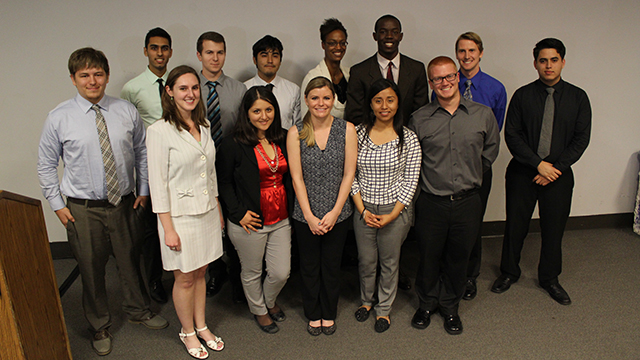 Winners of the Cal Poly Pomona Student Research Conference.