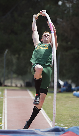 Justin Ellerbee competes in the pole vault at the Mt. SAC Relays in Walnut.