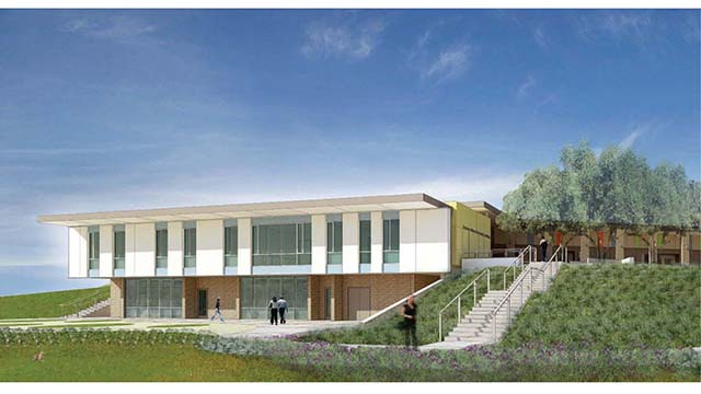 An architect's rendering of the planned expansion of The Collins College of Hospitality Management.