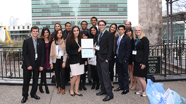 The 2014 Cal Poly Pomona National Model U.N. Team in New York City.