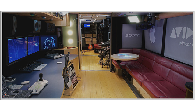 The interior of the John Lennon Tour Bus.