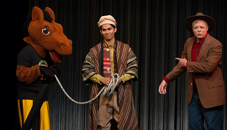 "Actors perform in the theatre show ""Special K"" on April 13, 2014 in the University Theatre."
