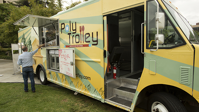 The Poly Trolley seen during the 2013 Southern California Tasting & Auction.