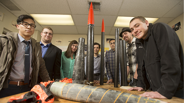Cal Poly Pomona's rocketry team has come in fifth in a nationwide competition sponsored by NASA.