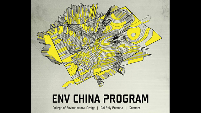 A poster for a College of Environmental Design studio taking place this summer in China.