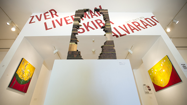 Local artist Jim Zver's Semi-detatched #16, painted wood sculpture is just one of the new works that will be on display at the W. Keith and Janet Kellogg University Art Gallery, July 7 to Aug. 16.