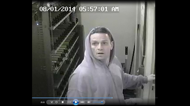 An image of the suspect taken by surveillance camera.