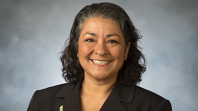 Rebecca Gutierrez Keeton, the acting vice president of Student Affairs, has received the Cynthia S. Johnson Award.
