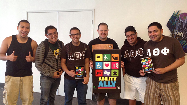 Students from Lambda Theta Pi took the university's Ability Ally program, which was selected for the Innovative Program Award by NASPA, Student Affairs Administrators in Higher Education.
