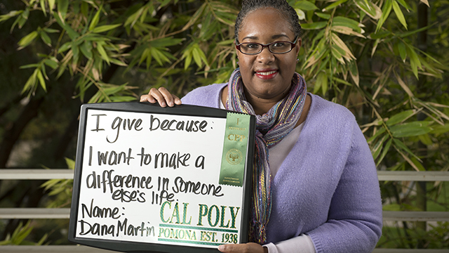 Dana Martin was one of the staff members who participated in the inaugural Faculty and Staff Campaign in 2013.
