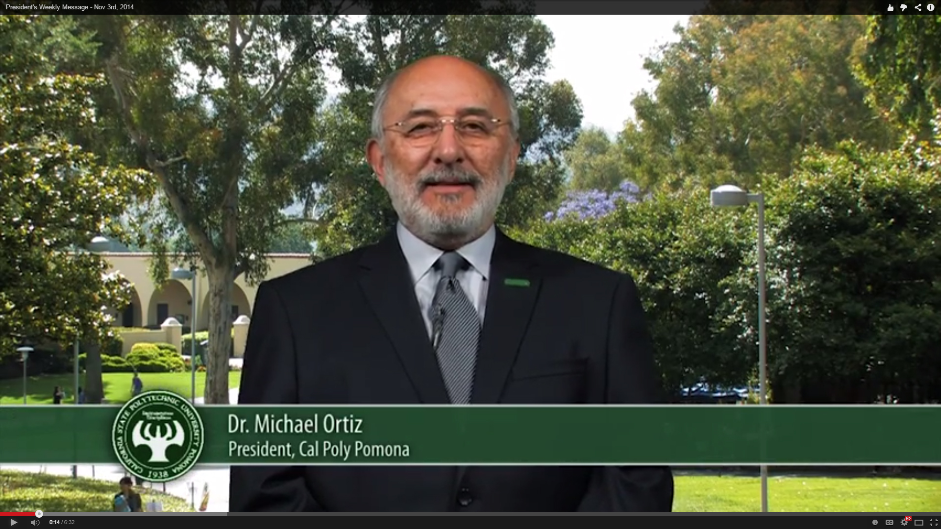 President Ortiz delivers his video update for Nov. 3, 2014.