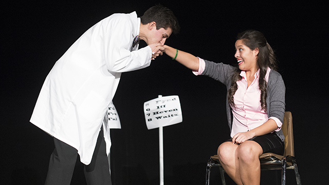 Students from Temple City perform a scene from last year's High School Scene Festival and Technical Olympics at Cal Poly Pomona.