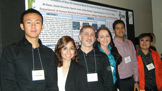 Students from the Department of Human Nutrition & Food Science who made a presentation at the Southern California Conference on Undergraduate Research with mentor Professor Yao Olive Li.