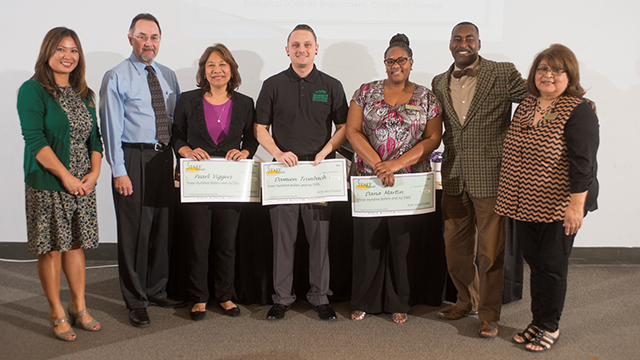 The 2014 Amelia Hammond/Staff Council Scholarship recipients were honored by Staff Council at a Nov. 18 reception.