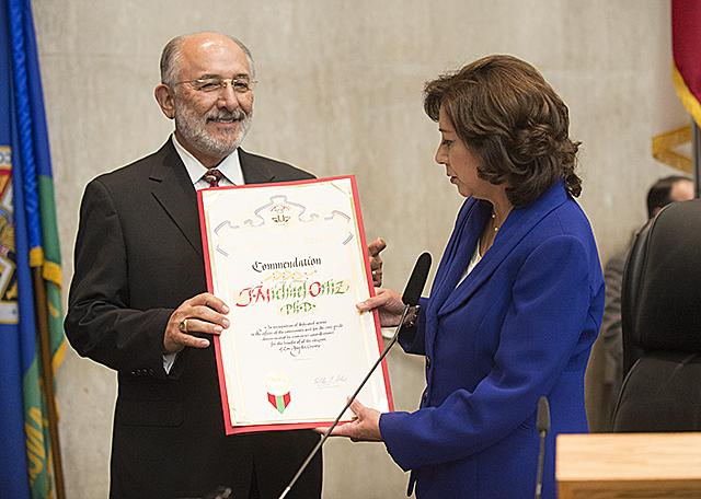 Commendation for Dr. Ortiz