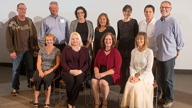 Sixteen retiring staff members were given emeritus status, granting them free parking and access to university events and services.