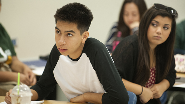 EGR 100 students in on the first day of class at Cal Poly Pomona in fall quarter 2014.
