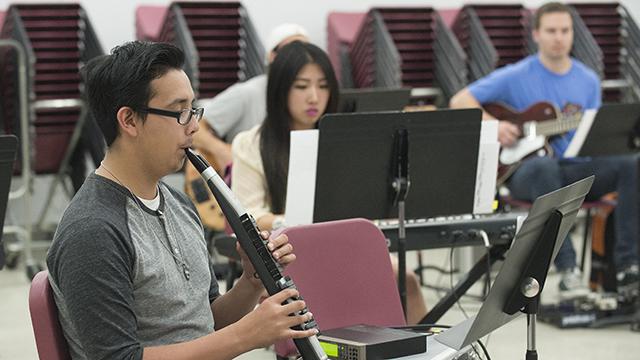 The Cal Poly Pomona MIDI Band rehearsing.
