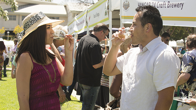 Attendees at the eighth annual Southern California Tasting & Auction can sample wine and taste cuisine from a variety of restaurants in the region.