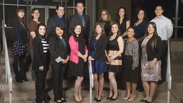 Scholarship winners at the Partners in Education Sponsor a Future Teacher Award Ceremony at Cal Poly Pomona.