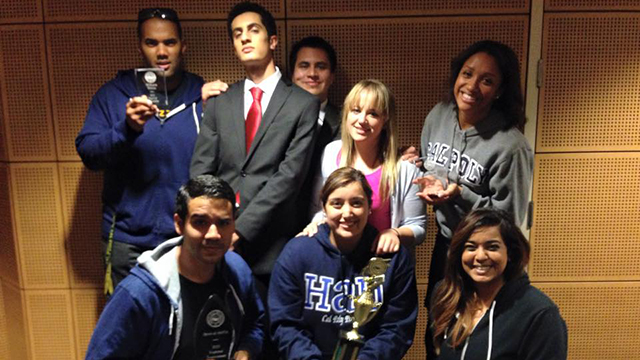 Part of the Cal Poly Pomona Mock Trial Team at the regional competition.