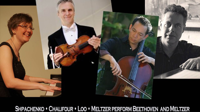 Associate Music Professor Nadia Shpachenko will be joined by guest musicians Martin Chalifour, Timothy Loo and composer Harold Meltzer at the Winter 2015 Shpachenko & Friends Chamber Music festival.