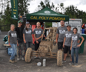 The team finished first in the endurance race, a four-hour competition through a course muddied by rain.  Photo Courtesy of Baja SAE
