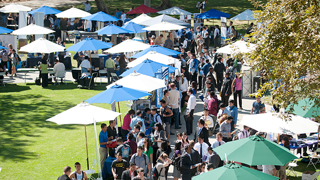 Cal Poly Pomona's Career Center will host nearly 200 companies at the Spring Career Fair Thursday, April 23.