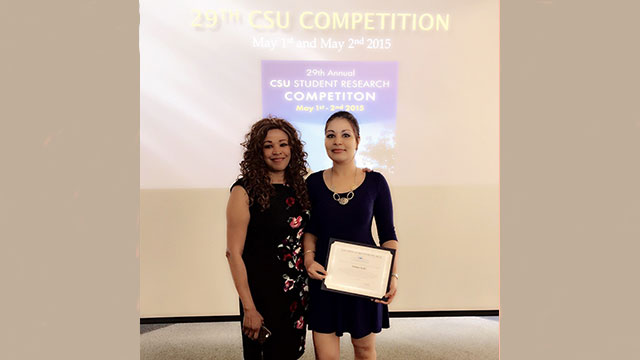 Parmeet Kohli, a graduate student in engineering management, received second place recognition for her project at the 29th Annual CSU Research Competition.