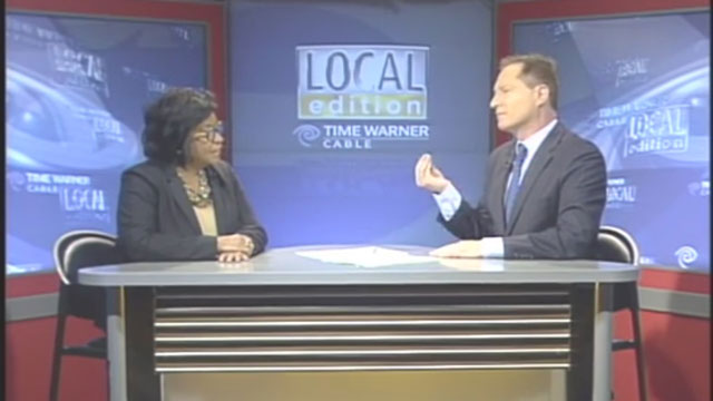 President Soraya M. Coley appears on Time Warner Cable Local Edition.
