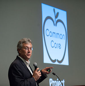 Peter Paccone speaks at the California Teachers Summit 2015 at Cal Poly Pomona July 31, 2015.
