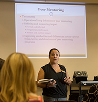 Cecilia Santiago Gonzalez speaks on High Impact Practices during Fall Conference 2015.