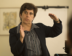 Francelina Neto speaks on Semester Conversion during Fall Conference 2015.