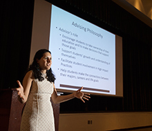 Selyna Beverly speaks on Advising Structure and Opportunities during Fall Conference 2015.