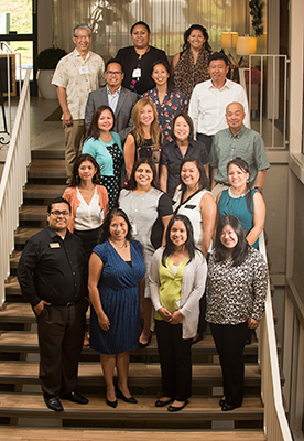 The CSU Asian American Pacific Islander Initiative representatives from each CSU campus at the Steering Committee Strategic Planning Meeting at Cal Poly Pomona September 9, 2015.