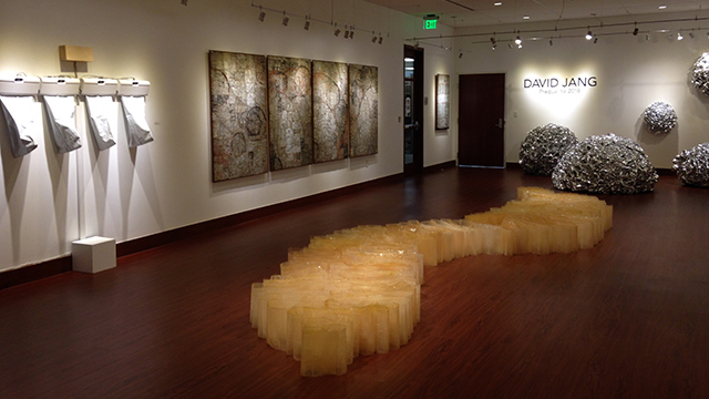The exhibit of Korean-born, L.A.-based artist David Jang runs through Oct. 29 at Cal Poly Pomona's art galleries.